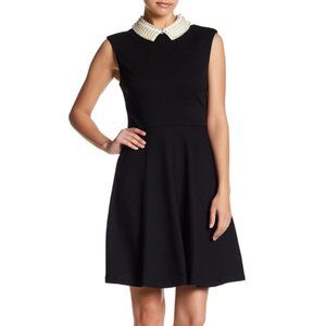 Betsey Johnson, Fit and Flare pearl collar dress
